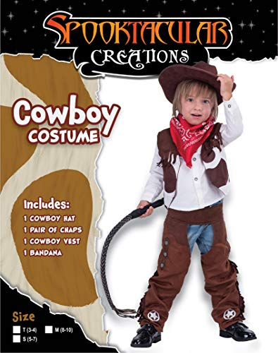 Cowboy Costume Deluxe Set for Kids Halloween Party Dress Up,Role Play and Cosplay (S(5-7yr)) Brown - http://coolthings.us