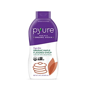 Organic Maple Flavored Syrup Sugar Free Low Net Carbs Pancake Keto