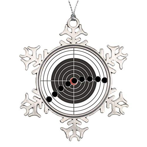 Xmas Trees Decorated Machine gun bullet holes over shooting target Halloween Snowflake Ornaments -