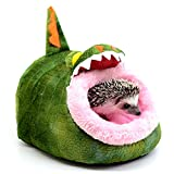 Alfie Pet by Petoga Couture - Jocelyn Sleeping Cave Bed for Small Animals like Dwarf Hamster and Mouse - Pattern: Crocodile