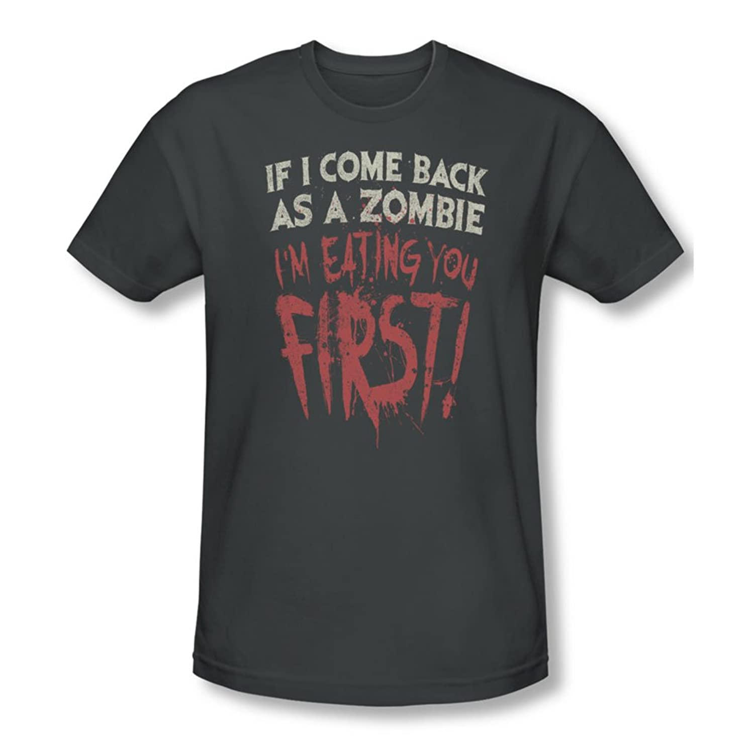 You First - Mens Slim Fit T-Shirt In Charcoal