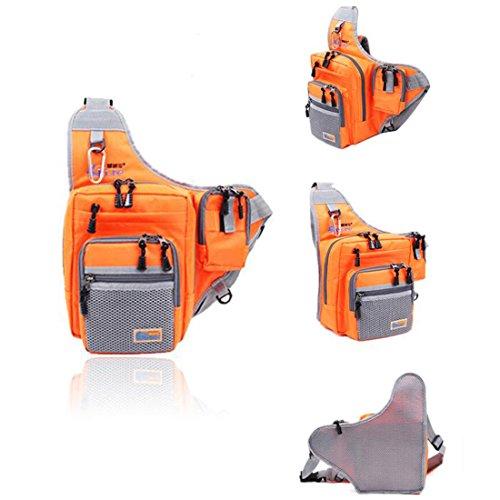 Ilure Multi-Purpose Waterproof Polyester Fishing Bag Carp Fishing Reel Lure Tackle Bag (Orange) - Orange Tackle