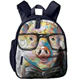 Pig With Glasses Comfy School