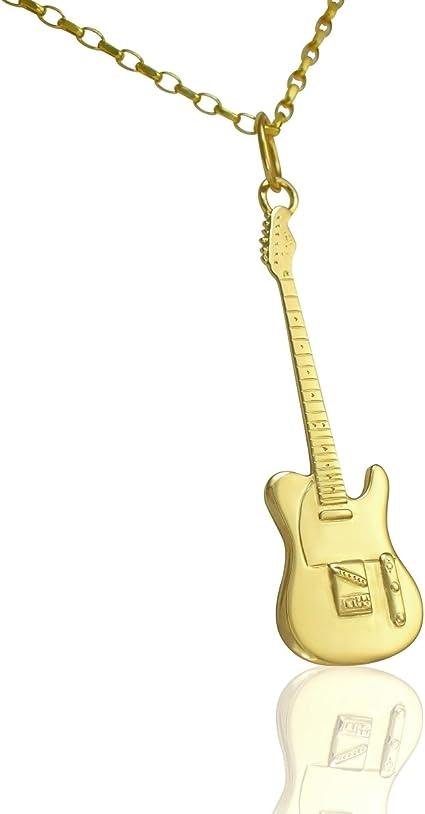 Colgante de guitarra eléctrica Fender Telecaster de oro sólido de ...