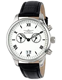 Breytenbach Men's BB8840W Classic Analog Alarm Big Date Watch