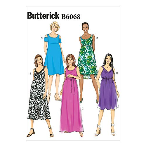 - Butterick Patterns 6068 Misses Easy Maternity Dress and Belt Sizes 14-16-48-20-22