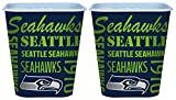 Set of 2 Seattle Seahawks 3 Liter Reusable Plastic Snack Buckets!