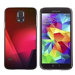 TopCaseStore / la caja del caucho duro de la cubierta de protección de la piel - Black Pink Red Polygon - Samsung Galaxy S5 SM-G900