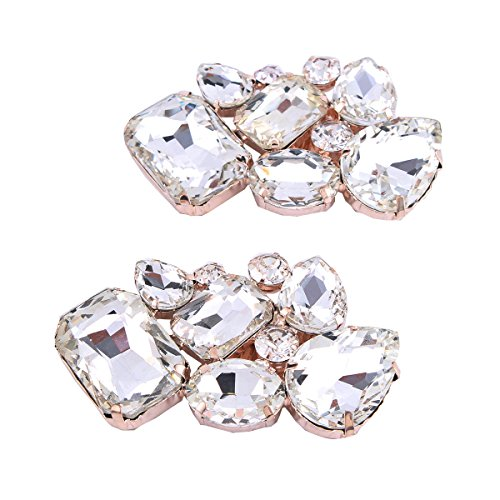 FUMUD Shoes Dress Hat Bag Accessories Rhinestones Crystal Shoe Clips 1pair (1#) by FUMUD