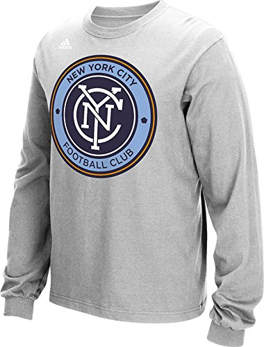 fan products of MLS New York City FC Men's Long Sleeve Tee, Grey, Small