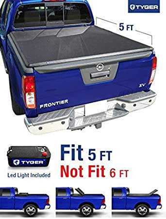 Tyger Auto Tg Bc3n1028 Tri Fold Pickup Tonneau Cover Fits 05 15 Nissan Frontier 5 Feet With Without Utility Track 09 12 Suzuki Equator 5 Feet 60 Inch By Tyger Auto Amazon De Auto