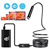 Wireless Endoscope, IP67 Waterproof WiFi USB Borescope Inspection Snake Inspection Camera 2.0 MP Snake Camera for Android and IOS Smartphone, iPhone, Samsung, Tablet (11.5ft)