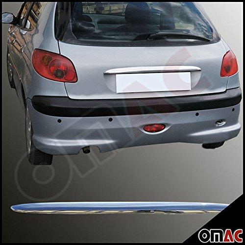 OMAC Peugeot 206 Kofferraumleiste Zierleiste Blenden Abs Chrom 2003-2006
