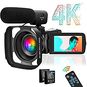 Flashandfocus.com 51mDn1ansKS._SS300_ 4K Video Camera Camcorder, Ultra HD 30MP Digital YouTube Vlogging Camera 3.0 Inch Touch Screen 18X Zoom Camera Recorder…