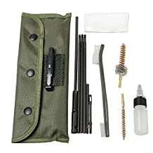 Airsson Rifle Gun Brush Cleaning Set Kit Shotgun Cleaner Rod Maintenance For .22 22LR .223 556 Caliber with Durable Pouch Accessories