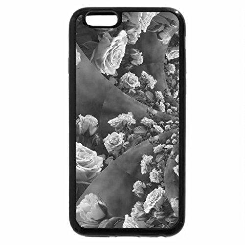 iPhone 6S Plus Case, iPhone 6 Plus Case (Black & White) - Swirl of roses