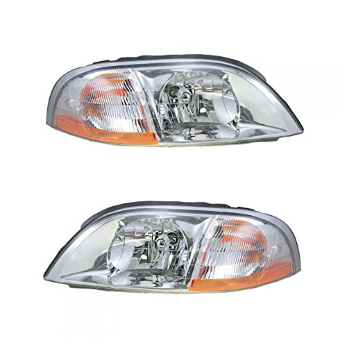 Headlights Headlamps Left & Right Pair Set for 01-03 Ford Windstar ()