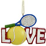 LOVE Tennis Ball and Racket Christmas Tree Ornament Decoration Sports C6684 New