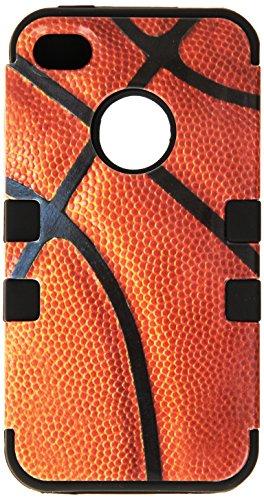 MYBAT IPHONE4AVHPCTUFFIM010NP Premium TUFF Case for iPhone 4 - 1 Pack - Retail Packaging - Basketball/Black