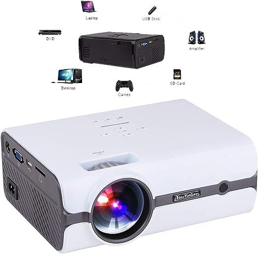 Inicio Proyector LED Mini Portátil Inteligente Wireless WiFi Corto ...