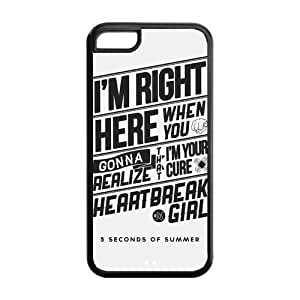 Snap-on TPU Rubber Coated Case Cover for ipod touch4 [5sos]