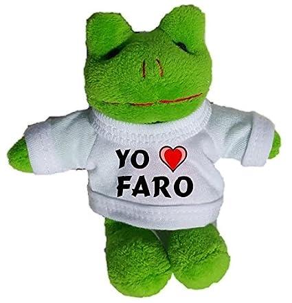 Rana de peluche (llavero) con Amo Faro en la camiseta ...