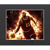 "Lebron James Exclusive Artwork by ""Fantics"" 8x10 Matted to 11x14 - Limited to 100 with Certificate of Authenticity"