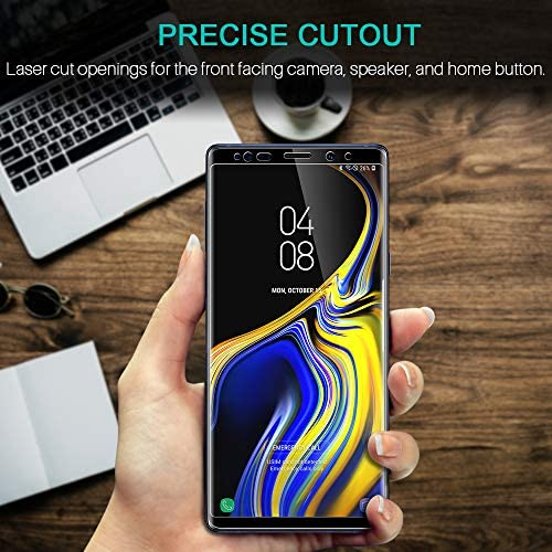 LK Screen Protector Compatible for Samsung Galaxy Note 9 Tempered Glass Case Friendly - Alignment Frame Easy Installation - 3-D Curved - Full Coverage