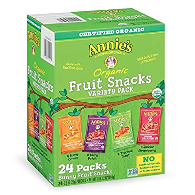 Annies Organic Bunny Fruit Snacks, Variety Pack, 0.8 oz Each by Annie's Homegrown that we recomend personally.