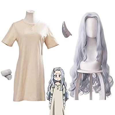 YMHQ Eri Cosplay Dress, 4 pcs My Hero Academia Costume Wig and Clip Eri Full Set: Clothing