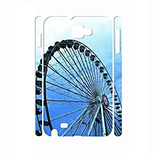 Beautiful Romantic Series Ferris Wheel In the Sunset Designer Hard Plastic Shell Cover for Samsung Galaxy Note I9200 Case