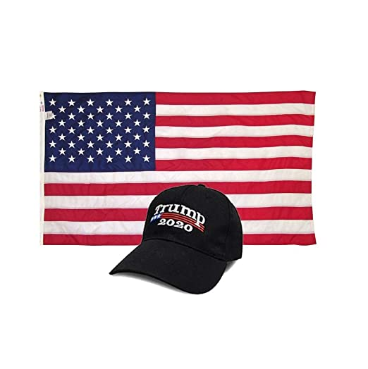 d60ced1f9fc Make America Great Again Hat  2020 Cap - Black  with American Flag (3