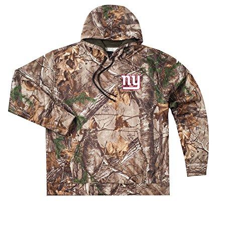 Giants Camo (NFL New York Giants Adult Champion Realtree Xtra Polyester Tech Fleece Full Zip Hoodie, Large,)