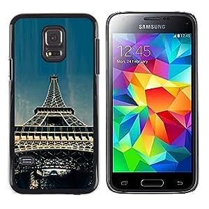 LECELL--Funda protectora / Cubierta / Piel For Samsung Galaxy S5 Mini, SM-G800 -- Torre Eiffel de París --