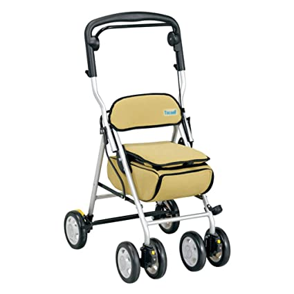 Amazon.com: Shopping trolley Old Man Shopping cart Advanced Trolley Walker Grocery Shopping cart Small cart Shopping cart Walker Can sit and Carry Can Bear ...