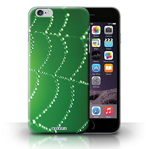 Hülle Case für iPhone 6+/Plus 5.5 / Grün Entwurf / Spinnen Netz Perlen Collection