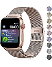 TIMDO Compatible with Apple Watch Band 38mm 40mm 42mm 44mm, Stainless Steel Strap with Magnetic Closure Compatible with iWatch Band Series SE 7/6/5/4/3/2/1