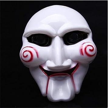 MAkhhh, Máscara de Halloween, Máscara de Motosierra, Asesino Blanco, Carnaval de Miedo, Juego de Roles, Disfraz de casa embrujada: Amazon.es: Juguetes y juegos