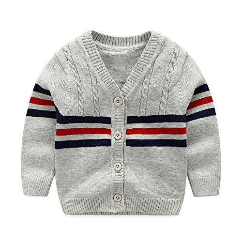 Iridescentlife Baby Sweater Boys Girls Cardigan Spring Autumn (9 Monthes, Gray)