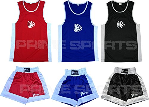Prime Sports Kids Boxing Set Top & Shorts 2 Pcs Set Satin Fabric For 03-14 Years