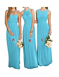 Botong A-Line Floor Length Chiffon Bridesmaid Dress Wedding Party Gown