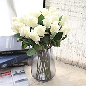 YJYdada 6 Pcs Pretty DIY Artificial Silk Fake Flowers Rose Floral Wedding Home Decor 24