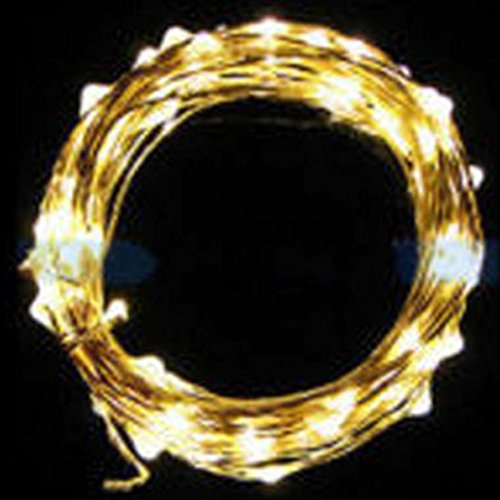 Euone 2M String Fairy Light 20 LED Battery Operated Xmas Lights Party Wedding Lamp (yellow)