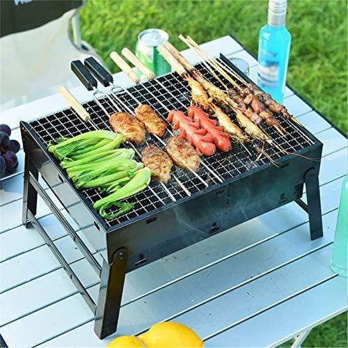 Sanzenling Barbecue au Charbon de Bois Pliable Portable Facile à Assembler et à Retirer Ensemble de Cuisson pour Barbecue Installation Gratuite de Gril de Barbecue