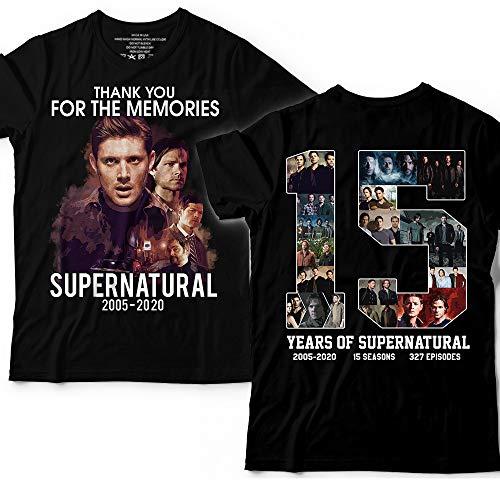 15 Years Of Supernatural 2005 2020 2 Sides Printing Customized Handmade T-Shirt Hoodie/Long Sleeve/Tank Top/Sweatshirt