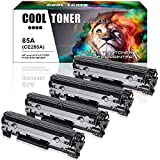 Cool Toner 4 Packs 85A Toner Compatible for HP 85A CE285A P1102w Toner Cartridge for HP LaserJet P1102w M1212nf HP LaserJet Pro P1100 P1102 P1102w M1212nf M1217nfw M1132 Ink Toner Printer - Black