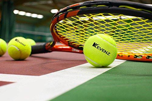 KEVENZ 24-Pack Green Advanced Training Tennis Balls,Practice Ball (Interlocked Wool Fiber) by KEVENZ (Image #5)
