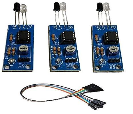 Embeddinator Glass PCB IR Sensor Module, 3 Pieces (Red, ENG-IRS)