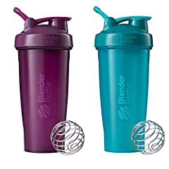 The 2-pack of BlenderBottle Classic 28-Ounce Shaker Cups makes it easy to maintain proper nutrition and hydration on-the-go. While one dishwasher-safe bottle is getting clean, there's another on hand for mixing protein shakes, smoothies, fibe...