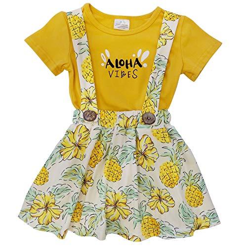 So Sydney Toddler & Girls 2 Pc Short Sleeve Skort Set (4T (M), Aloha Vibes) ()